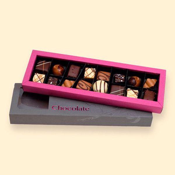 Afbeelding van doos luxe bonbons 16 stuks