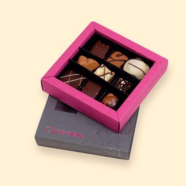 Afbeelding van doosje luxe bonbons 9 stuks