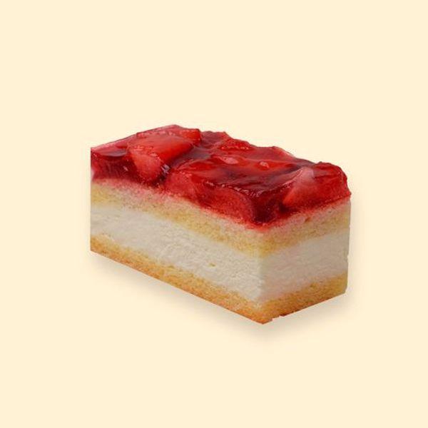 Afbeelding van glutenvrij en lactosevrij aardbei gebakje