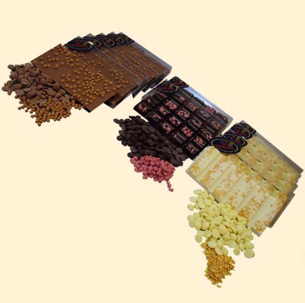 Afbeelding van chocolade tablet Ruby-Puur